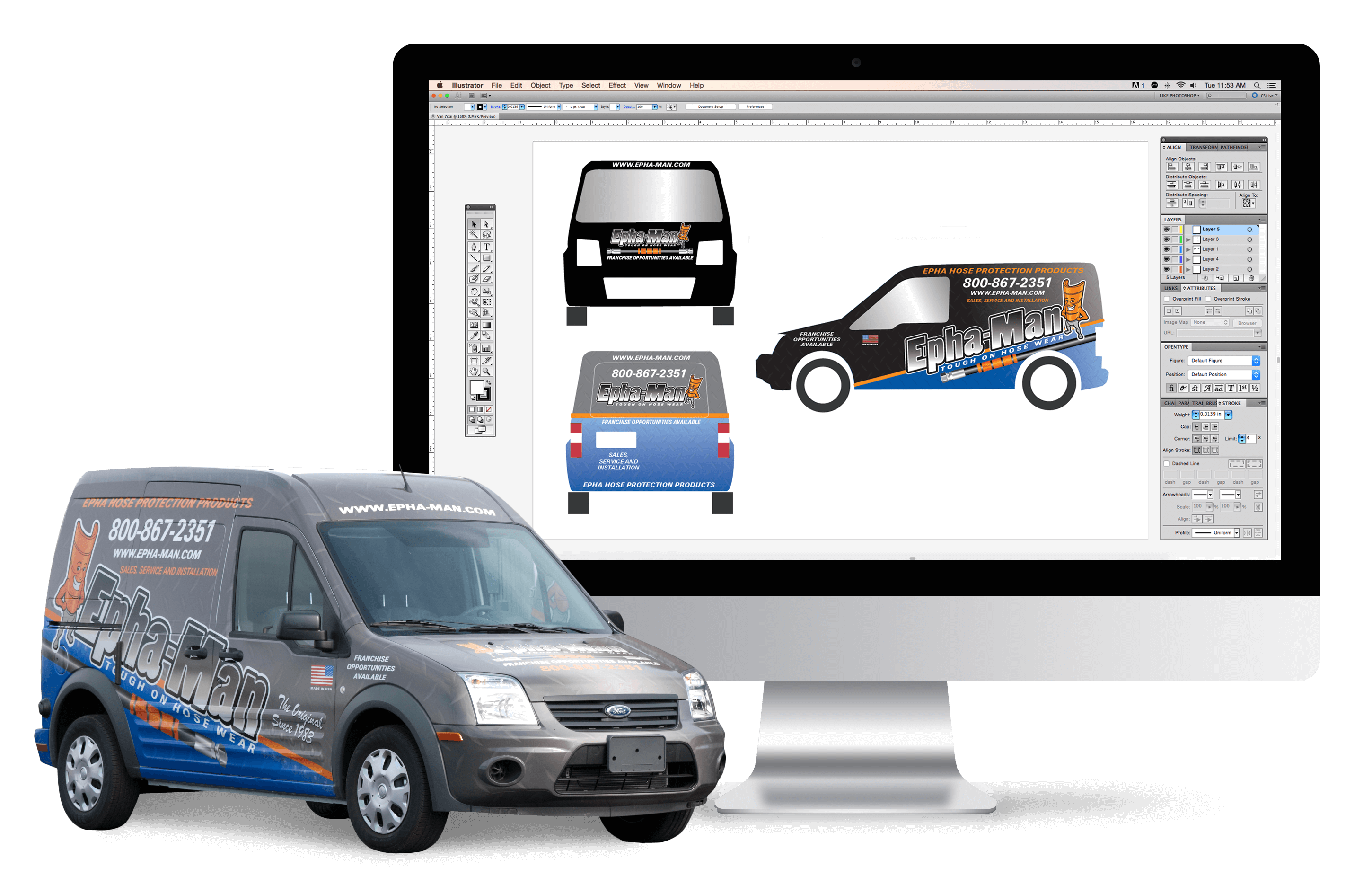 vehicle wrap services graphic design