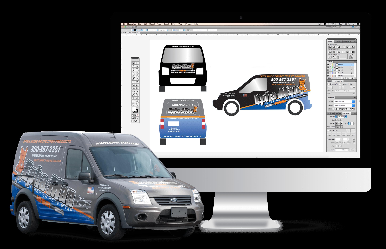 vehicle wrap services graphic design