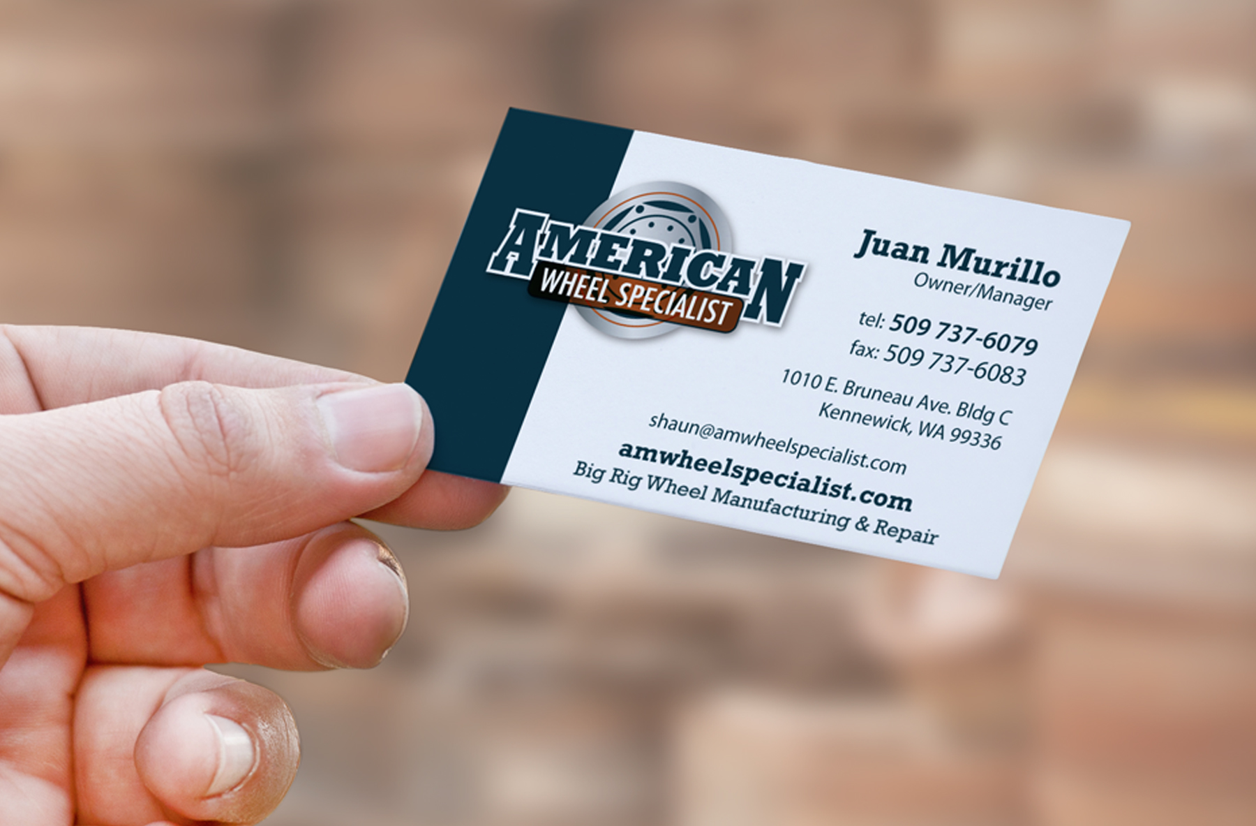 American Wheel Specialist Business Cards - Artmil